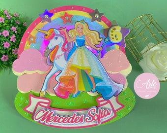 Barbie Unicornio Dreamtopia en Capas SVG, PDF, Studio3 / Digital Archive Barbie Unicorn Dreamtopia in Layers SVG, Pdf, Studio3