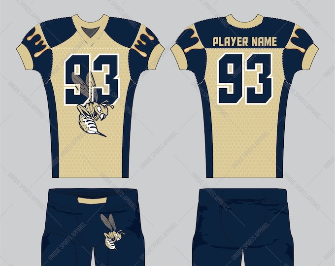 Honeycomb pattern filled background American Football Uniform design
