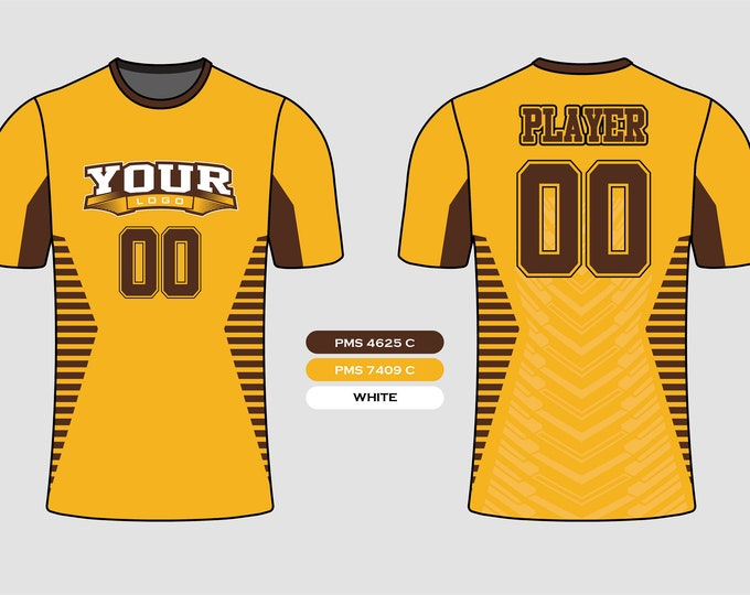 Side Stripe Sports Jersey Mockup