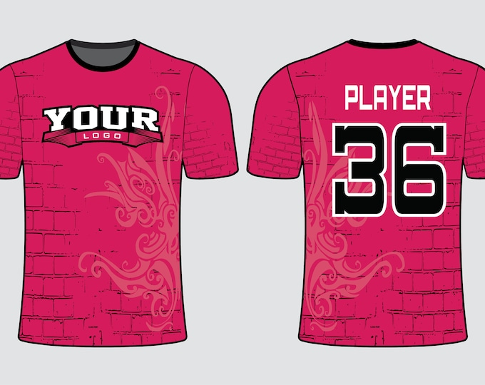 Pinkish Wall Sports Jersey Mockup