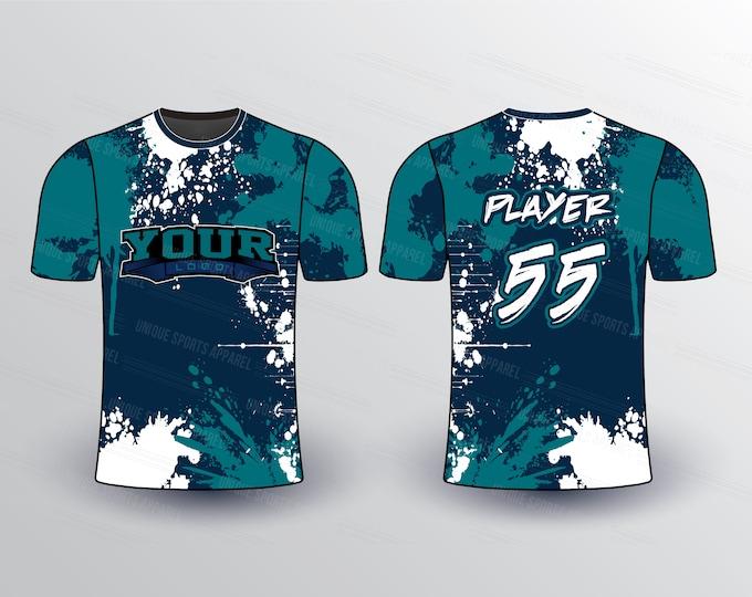 Colors Splatter Sports Jersey Mockup