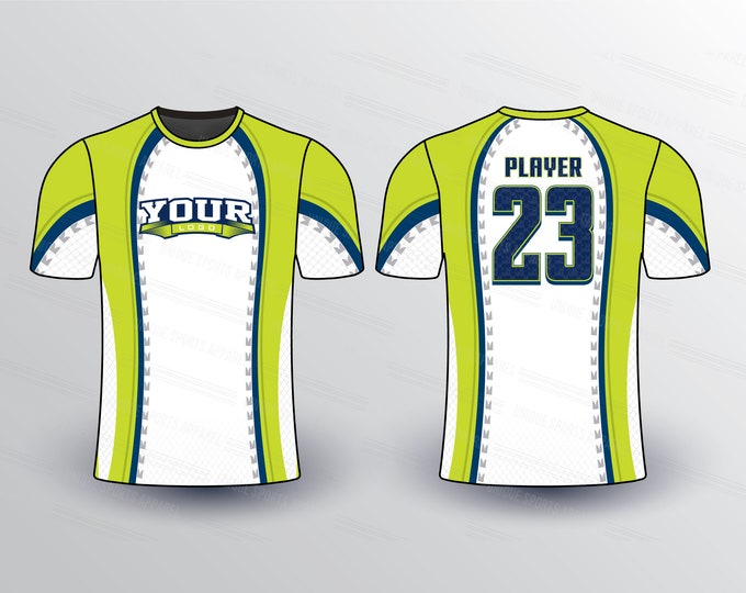 Curvy Design Pattern Sports Jersey Mockup