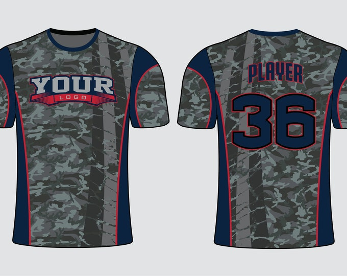 Graphite Camo Filled Sports Jersey Mockup