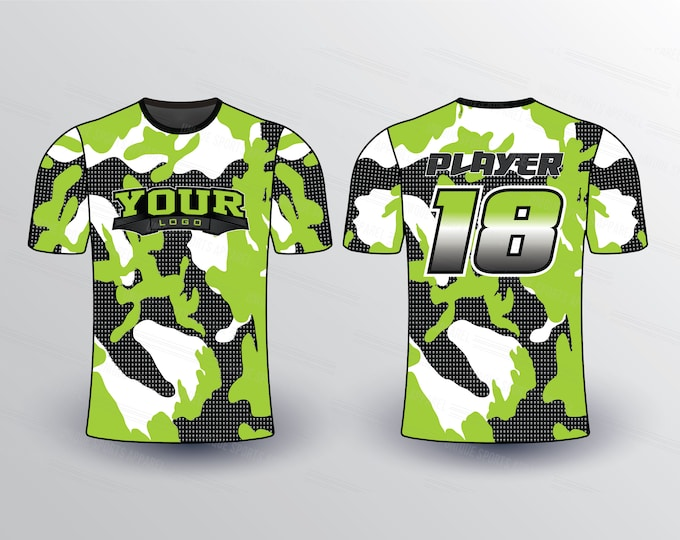 Sluggers Pattern Sports Jersey Mockup