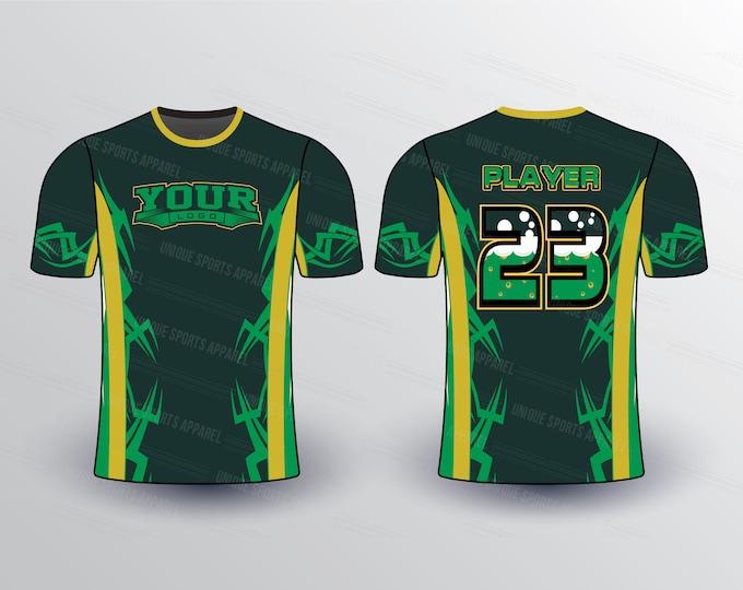 Spiky Sports Jersey Mockup