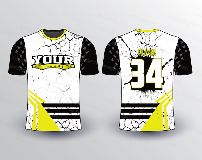 Cracking Pattern Sports Jersey Mockup