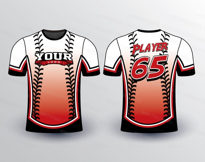 Softball Stitch Mark Pattern Sports Jersey Mockup