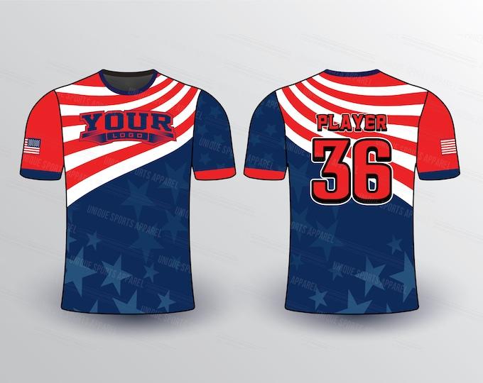 Flag Theme Sports Jersey Mockup