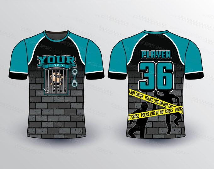 Prisoner  Theme Sports Jersey Mockup