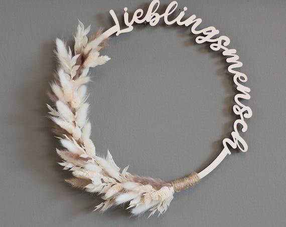 "Hoop ""favorite person"" 27 cm, dried flowers, dried flower wreath, wreath, gift"