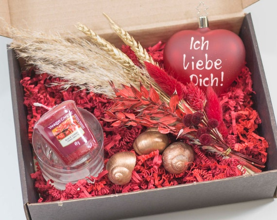 """Valentis boxes """"I love you"""" or """"Beautiful that you exist!"""" Valentine, Gift Set, Love, Gift Partner, Dry Flowers, Gift"""
