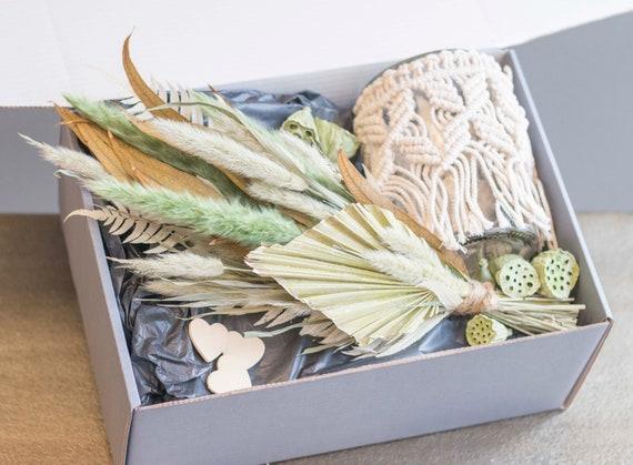 Boho-Dream, Macramé, Gift Box, Love, Gift Partner, Dried Flowers, Gift, Boho Decoration, Flower Window