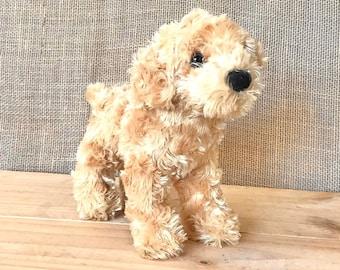 Vintage Labrador Retriever Plush Dog Plushie Toy Standing Cute Golden Retreiver Puppy Douglas Stuffed Animal Gift Baby Shower Nursery Decor