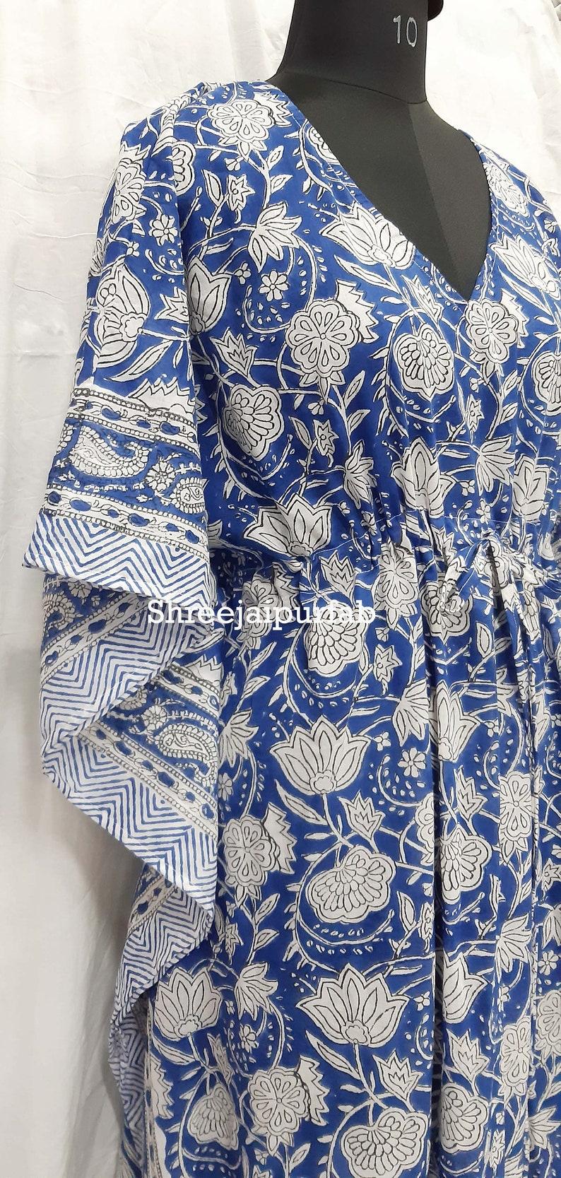 Shreejaipurfab Indian Hand Block Print Girls Caftan  Dress 100/% cotton  Fabric,Beautiful Floral Design,Made for girls,Spring Summer Dress