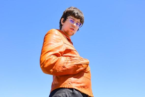 1970s Burnt Orange Leather Men's Sunrise Jacket//… - image 8