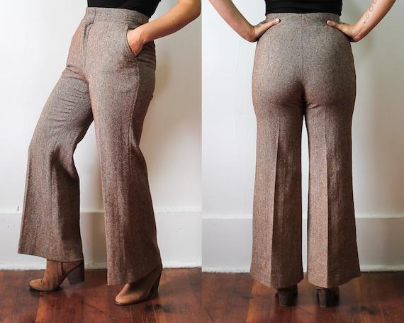 70s Tweed Trousers//Vintage THE BAY Wool Pants//Wi