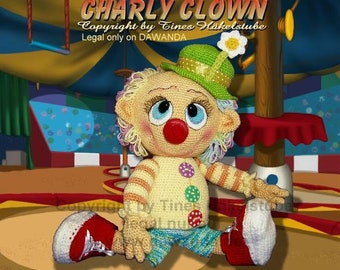 German!!! PDF pattern german amigurumi Crochet Pattern crochet Charly Clown Doll Tines Crochet Room