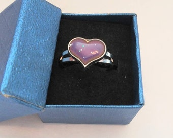 Retro Mood Rings Color Changing Rings Hearts