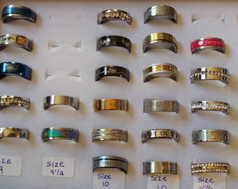 Alluring Rings  Fashion Rings High Quality Mens AND Womens Mix Eye Catching  Size 9, Size 9.5, Size 10 and Size 10.5