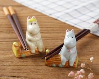 Moomin - Moonmintroll - Snorkmaiden - Brush Rest - Pen Holder - Chopstick Rest - Calligraphy Rest