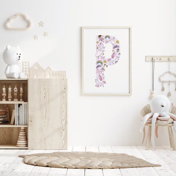 Ballerina and Fairy Initial/Letter Print