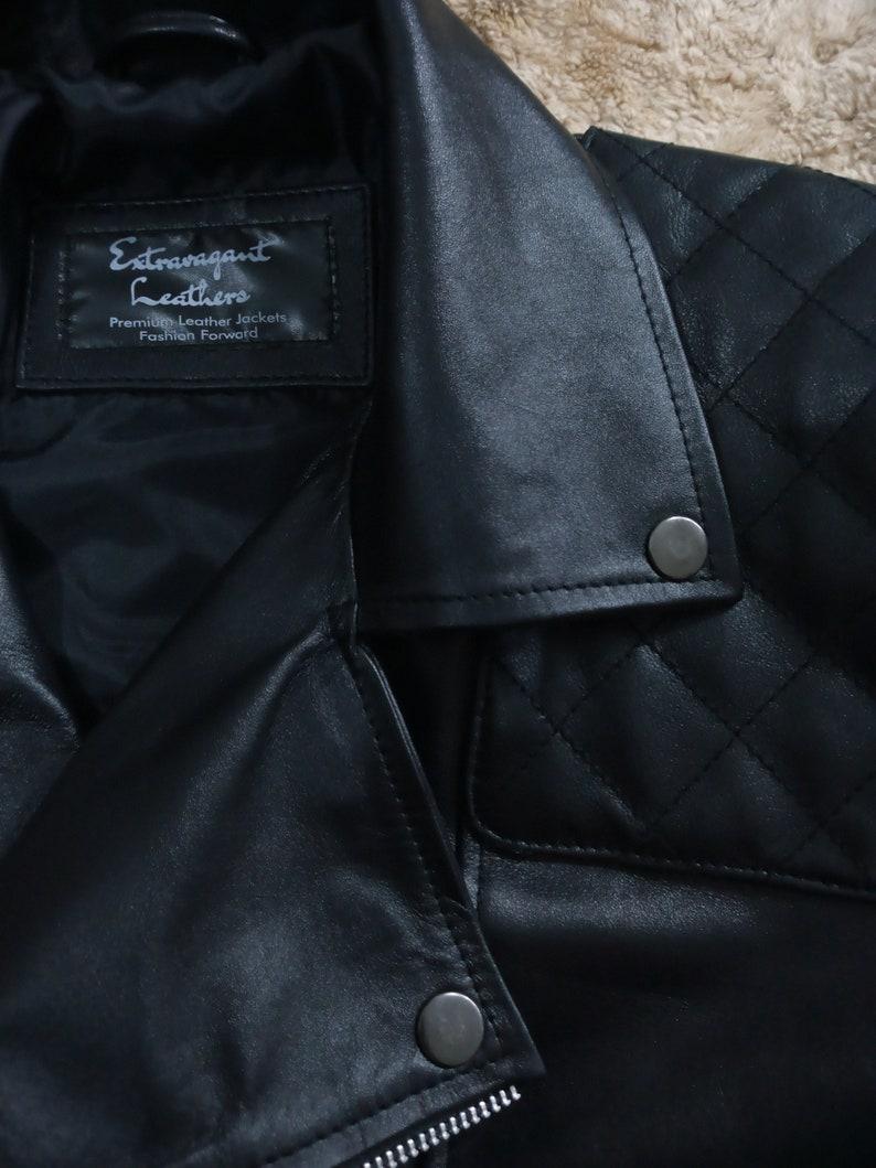 Men/'s Black Biker Jacket Motorcycle Jacket