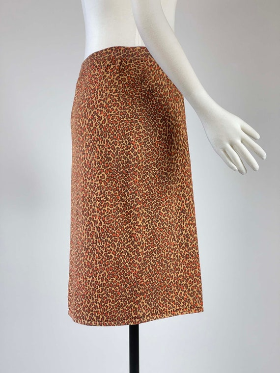 Vintage 1990s Leopard Print Skirt - image 3