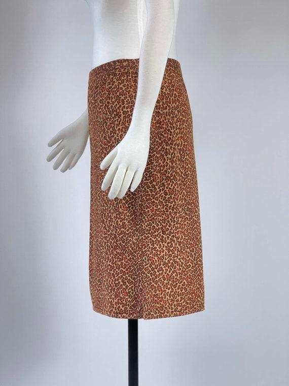 Vintage 1990s Leopard Print Skirt - image 7