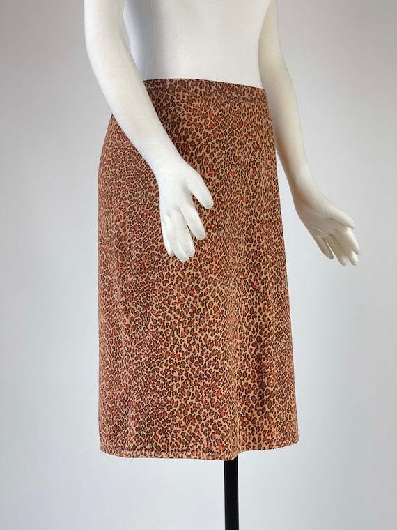 Vintage 1990s Leopard Print Skirt - image 2