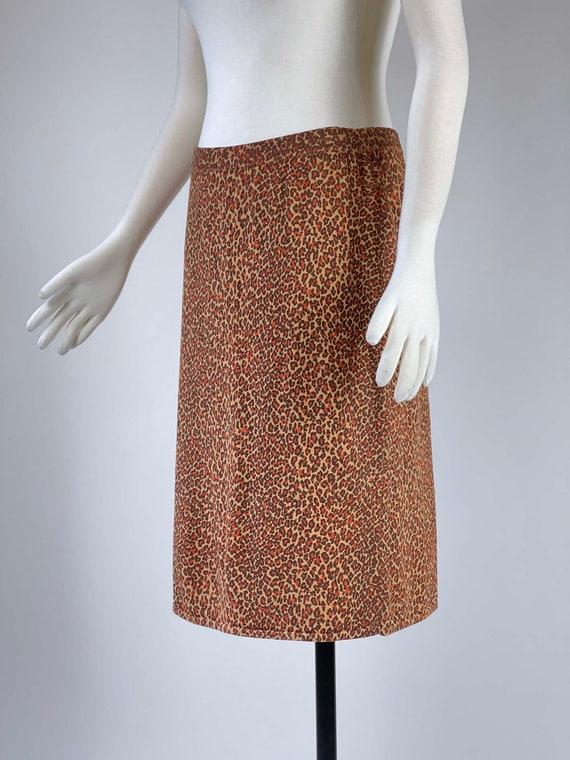 Vintage 1990s Leopard Print Skirt - image 8