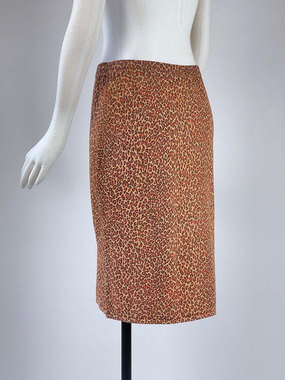 Vintage 1990s Leopard Print Skirt - image 6