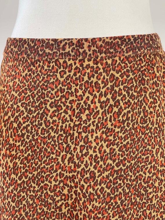 Vintage 1990s Leopard Print Skirt - image 9
