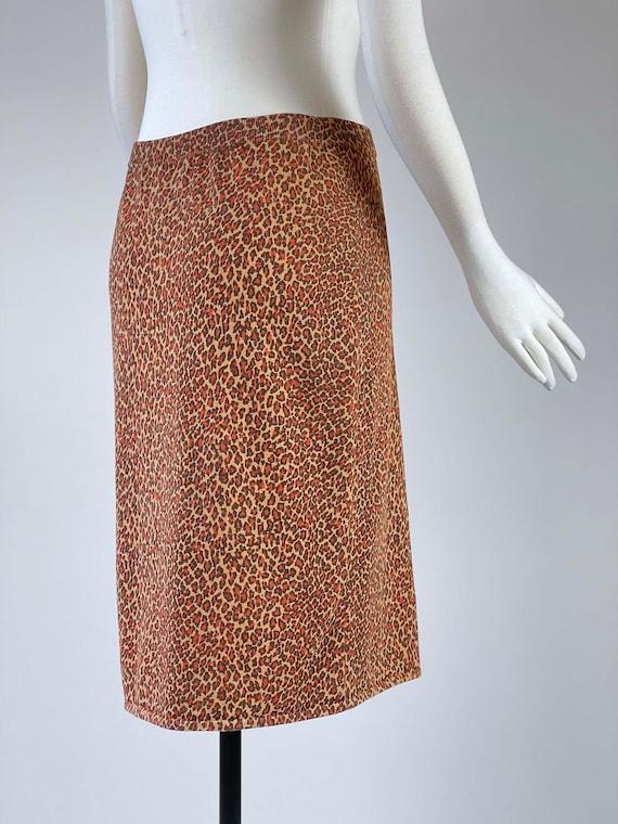 Vintage 1990s Leopard Print Skirt - image 4