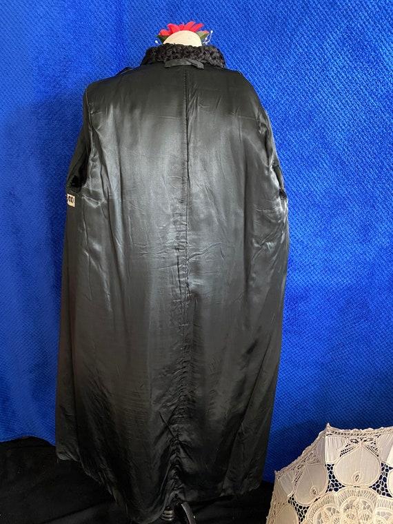 1940s CC41 Black Sheep skin coat 1940s full lengt… - image 6