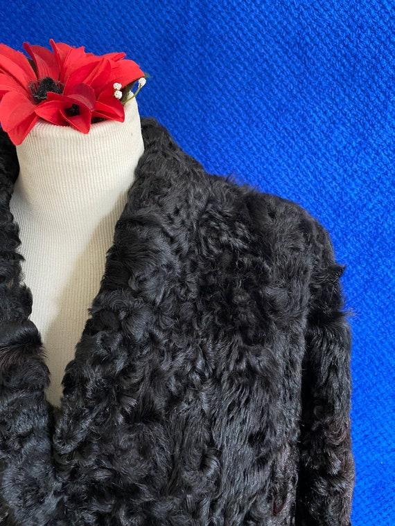 1940s CC41 Black Sheep skin coat 1940s full lengt… - image 9
