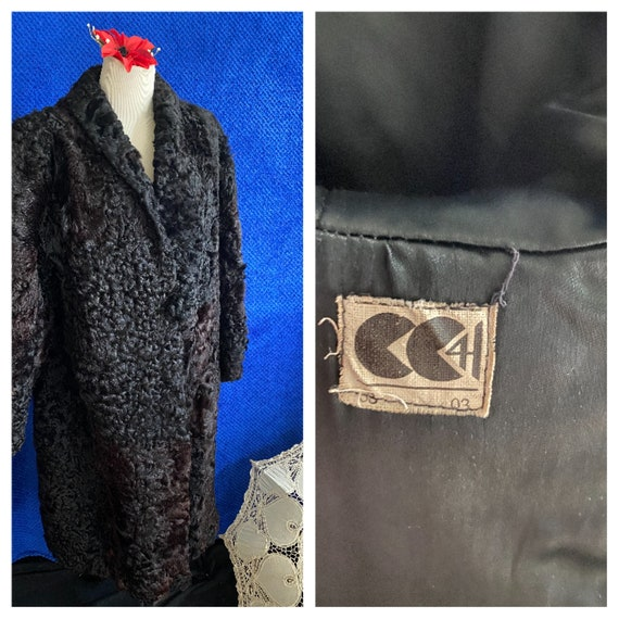 1940s CC41 Black Sheep skin coat 1940s full lengt… - image 1