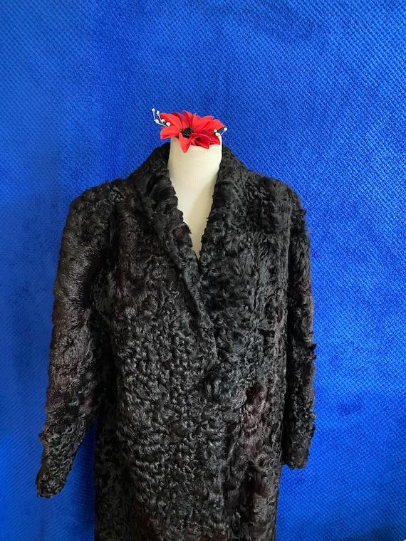 1940s CC41 Black Sheep skin coat 1940s full lengt… - image 3