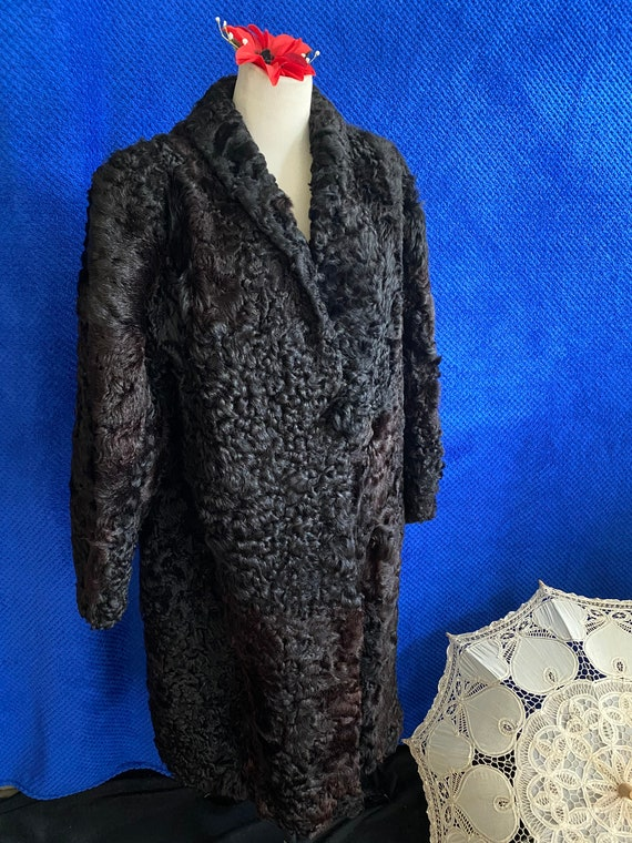 1940s CC41 Black Sheep skin coat 1940s full lengt… - image 7