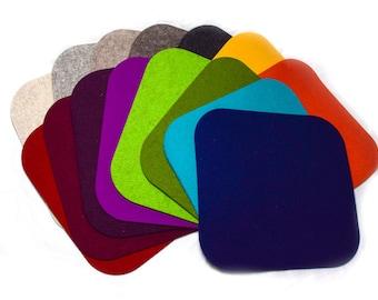 Seat cushion/placemat 100% wool felt 35 x 37 cm, chair base, bench pad felt