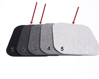 SPECIAL SUITD seat cushion 100% wool felt anthracite