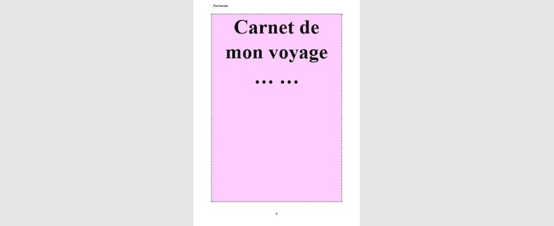 Carnet de voyage image 0