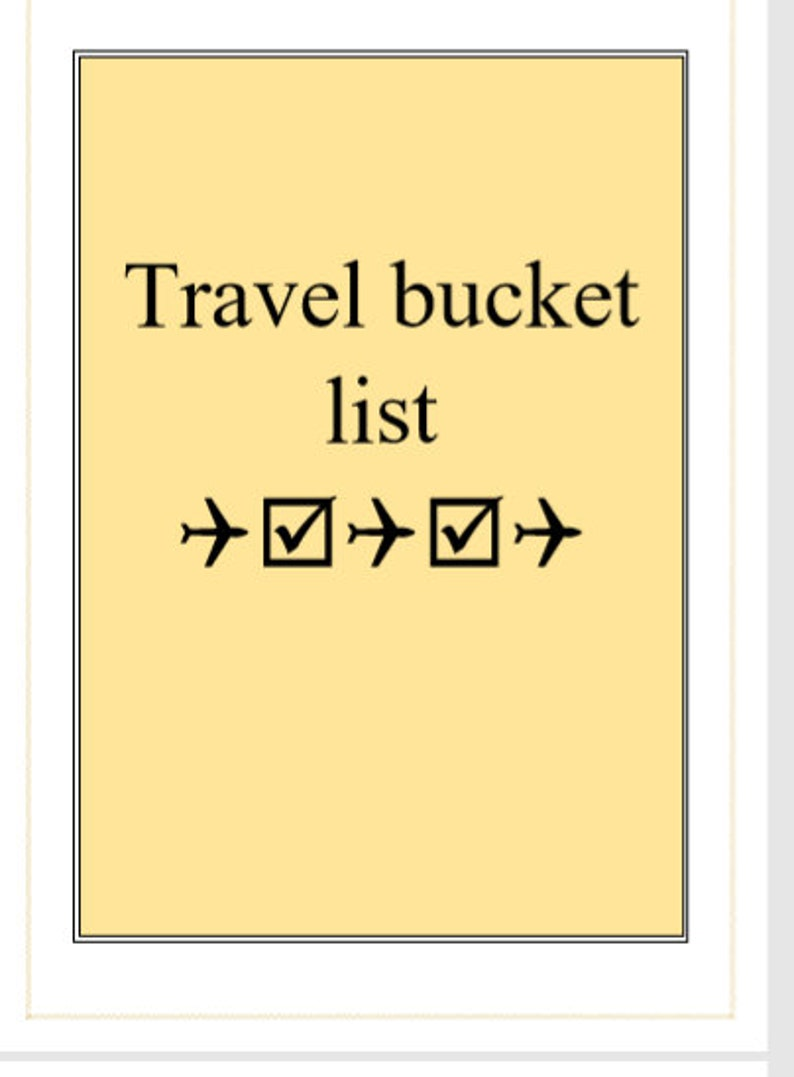 Planning de voyage image 0