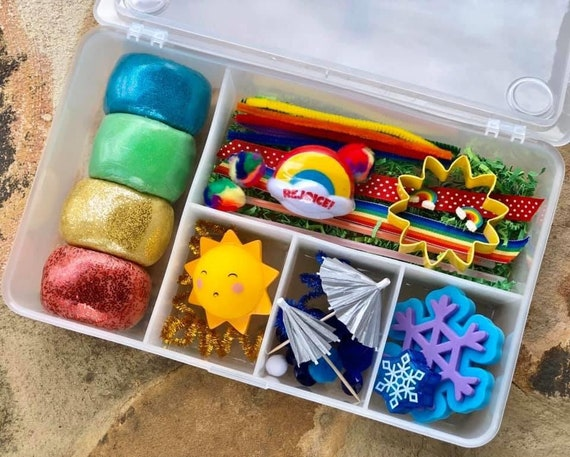 Deluxe Weather Box / Playdough / Sensory Dough / Playdoh