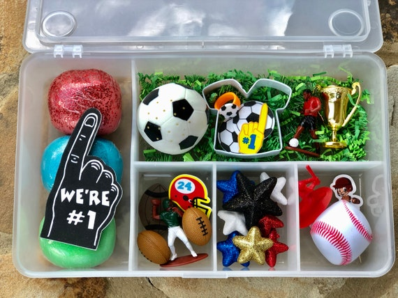 Deluxe Sports Zone Box / Playdough / Sensory Dough / Playdoh