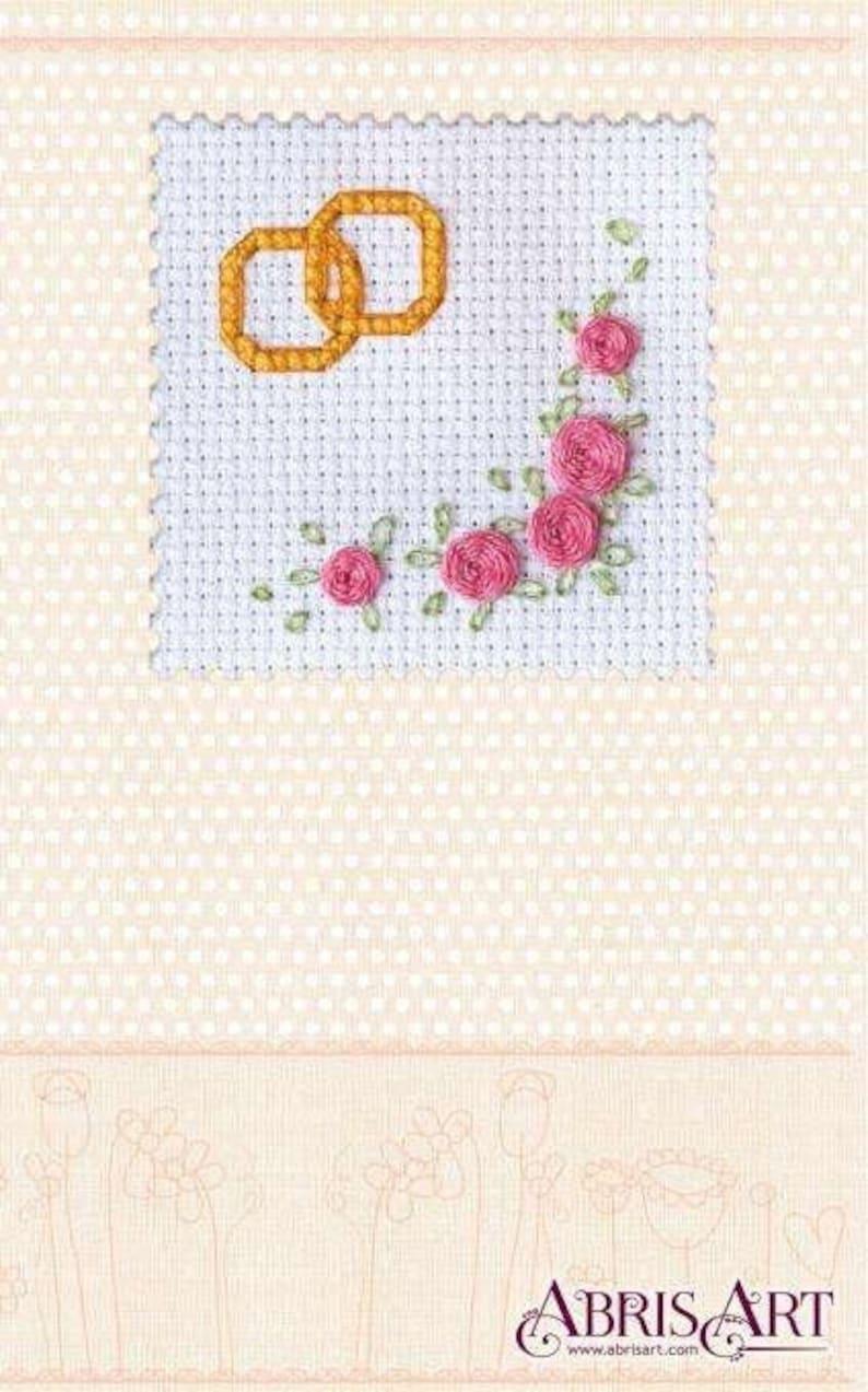 GIFT DIY Cross Stitch Cards Kit together Wedding set Size 80\u00d780 sm