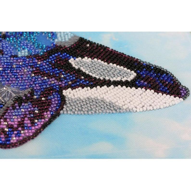 DIY Bead Embroidery Kit on art canvas Fourth dimension GIFT 10.4\u00d714.9 fish Size: 265\u00d7380 mm