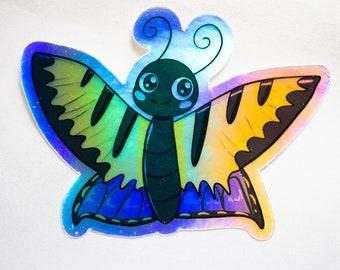"3"" Holographic Kawaii Swallowtail Butterfly Sticker"