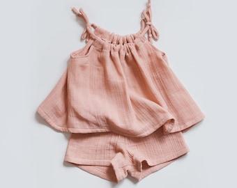 Swing Set bundle pdf sewing pattern - tank top and shorts pdf - sewing pattern - tank and bloomers - baby outfit pdf - girls outfit sewing