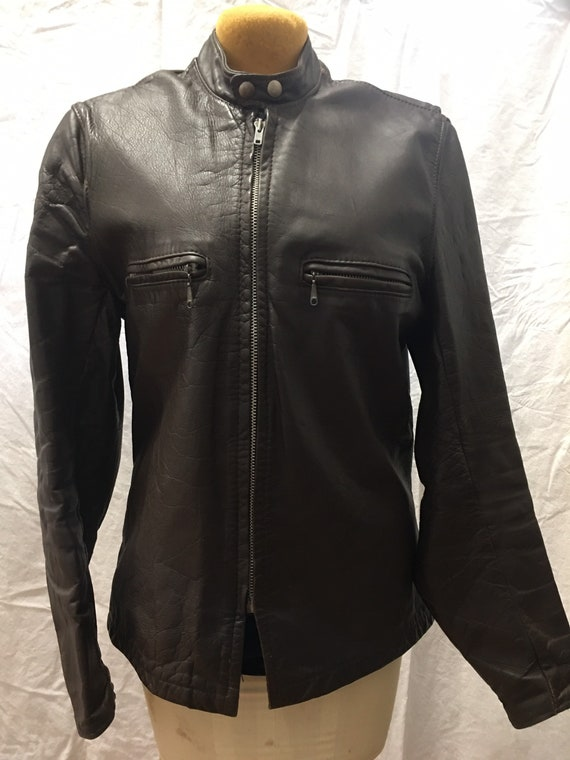 Vintage Brooks leather motorcycle jacket