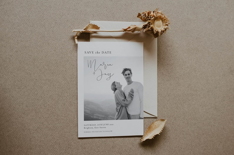 Photo Save the Date Digital Simple Save The Date Save the Date Electronic Invitation Postcard Double-Sided option Save the Date